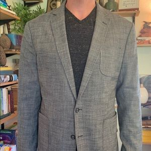 Unlined Stafford flannel stretch sport coat